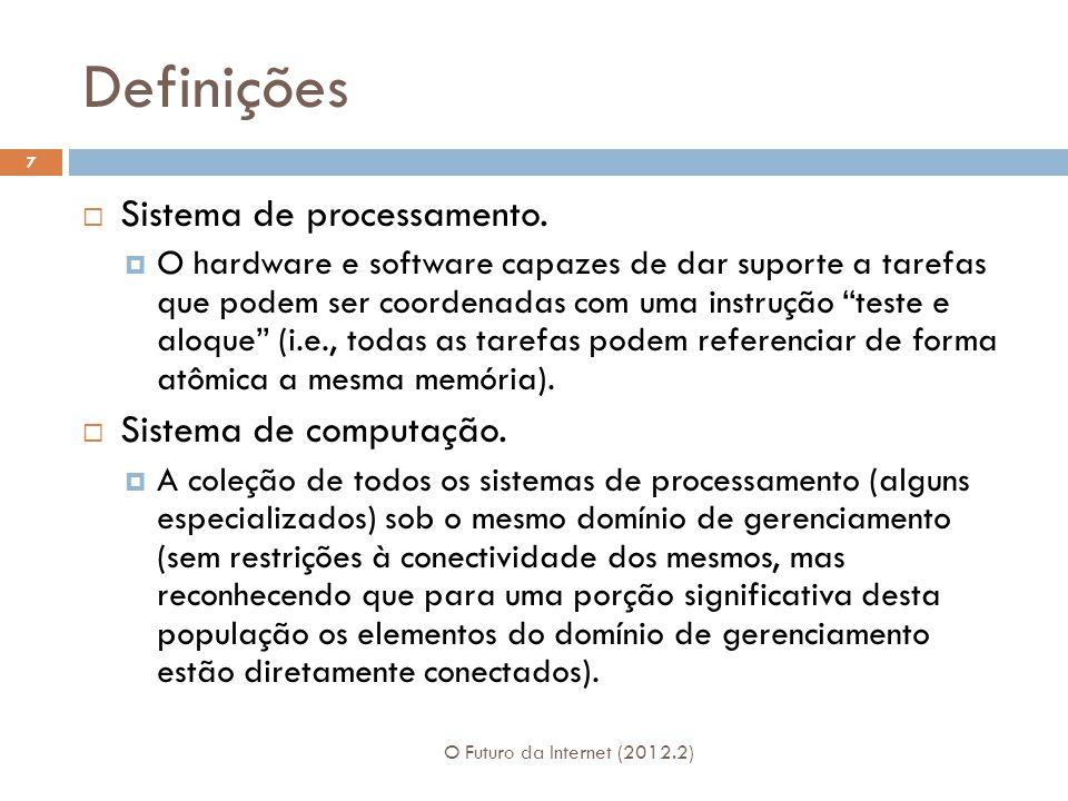 Definições Sistema de processamento. Sistema de computação.