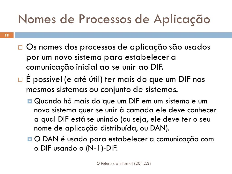 Nomes de Processos de Aplicação