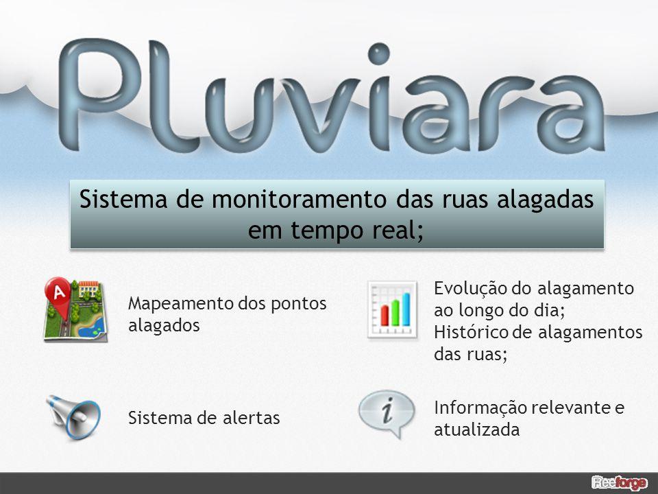 Sistema de monitoramento das ruas alagadas em tempo real;