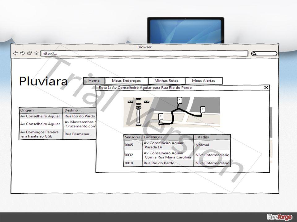 Primeira visualização da animação: o site