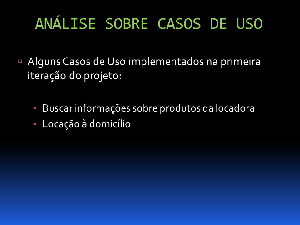 Análise sobre casos de uso
