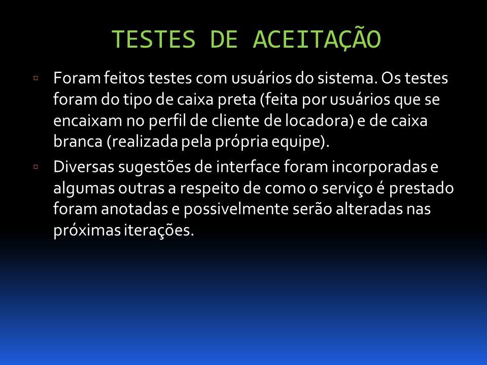TESTES DE ACEITAÇÃO