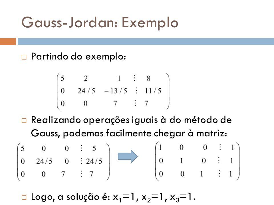 Gauss-Jordan: Exemplo