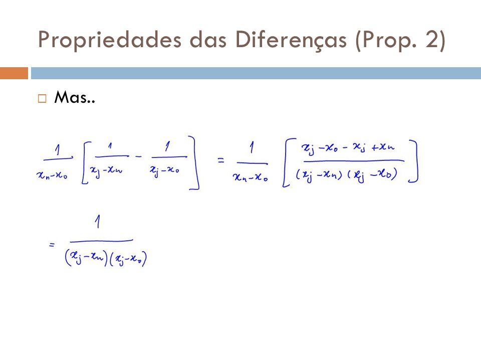 Propriedades das Diferenças (Prop. 2)