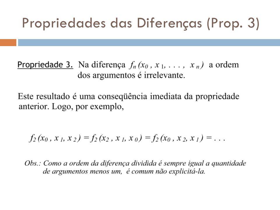 Propriedades das Diferenças (Prop. 3)