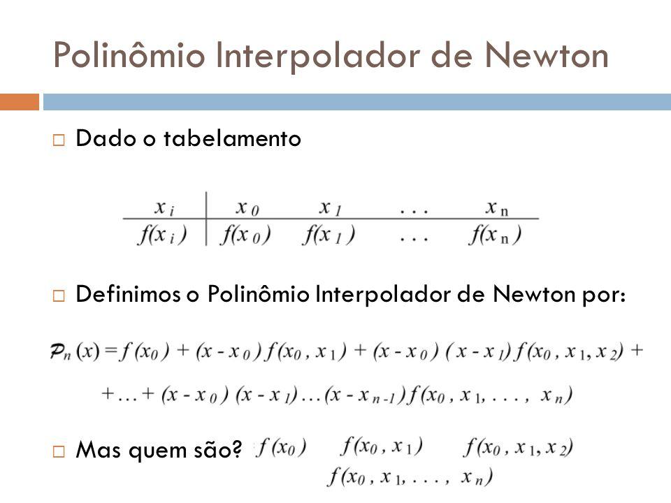 Polinômio Interpolador de Newton
