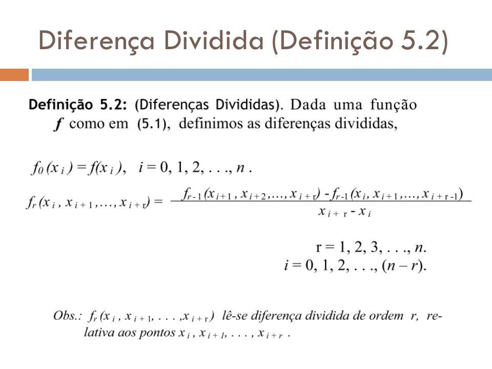 Diferença Dividida (Definição 5.2)