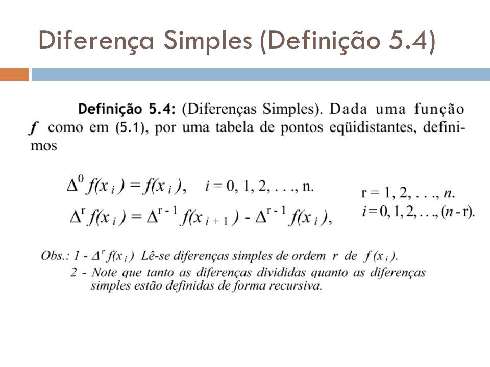 Diferença Simples (Definição 5.4)