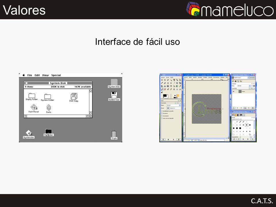 Valores Interface de fácil uso C.A.T.S.