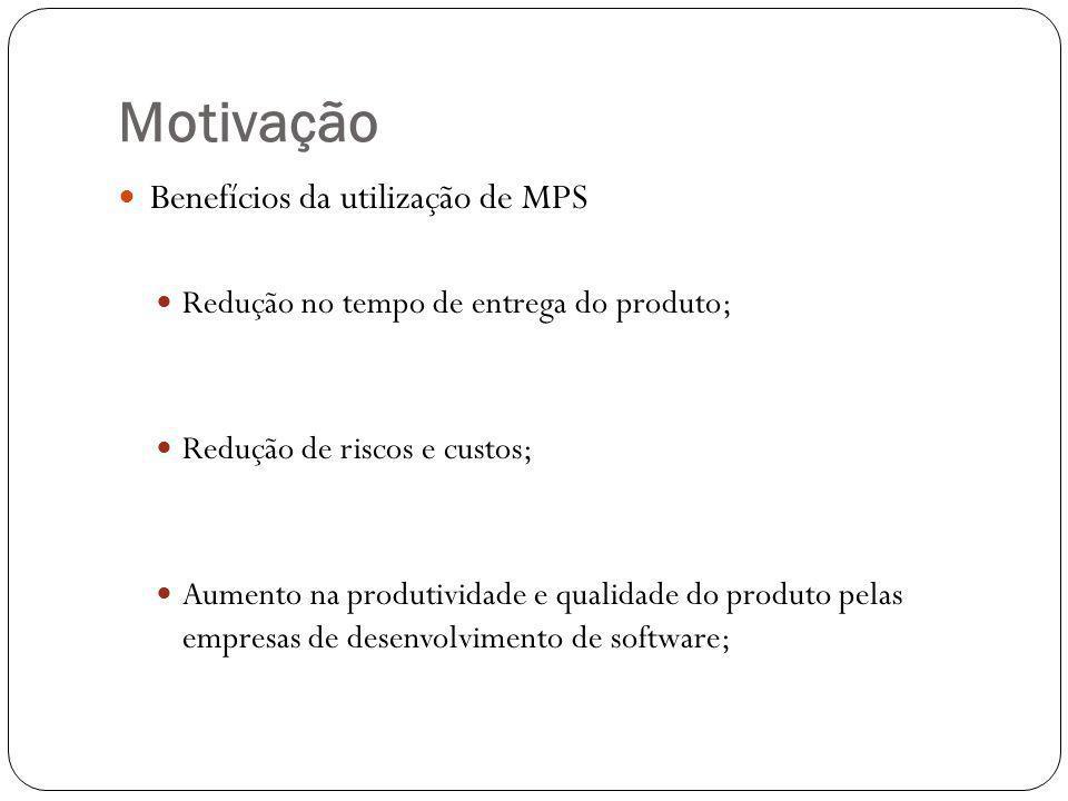 Motivação Benefícios da utilização de MPS