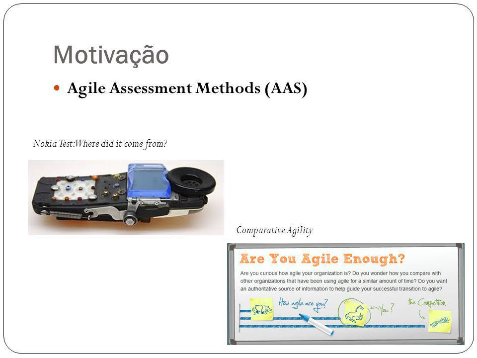 Motivação Agile Assessment Methods (AAS)