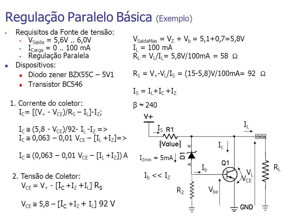 Regulação Paralelo Básica (Exemplo)