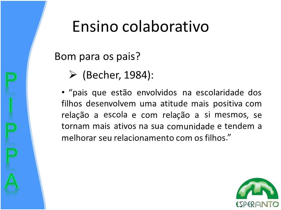 Ensino colaborativo Bom para os pais (Becher, 1984):