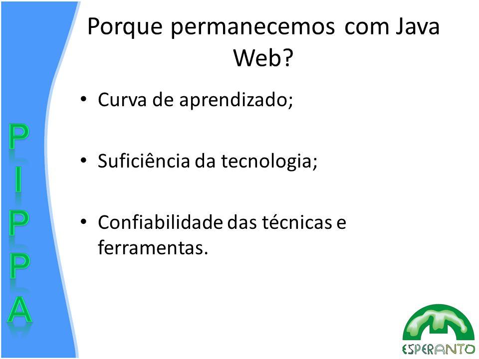 Porque permanecemos com Java Web