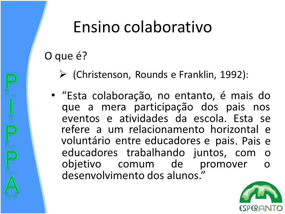 Ensino colaborativo O que é Esta colaboração