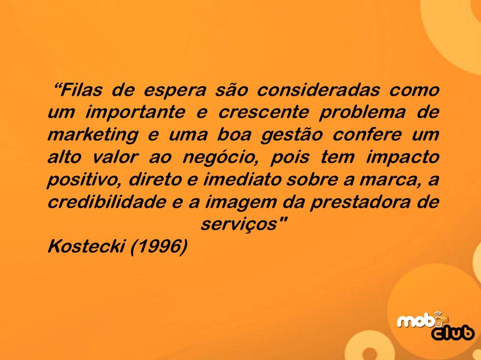 Filas de espera são consideradas como um importante e crescente problema de marketing e uma boa gestão confere um alto valor ao negócio, pois tem impacto positivo, direto e imediato sobre a marca, a credibilidade e a imagem da prestadora de serviços Kostecki (1996)