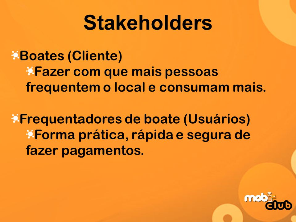 Stakeholders Boates (Cliente)