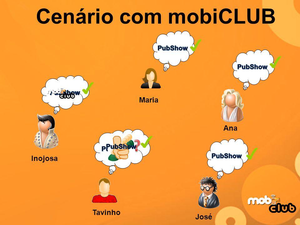 Cenário com mobiCLUB Maria Ana Inojosa Tavinho José PubShow PubShow