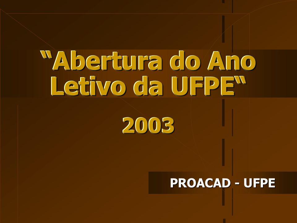 Abertura do Ano Letivo da UFPE