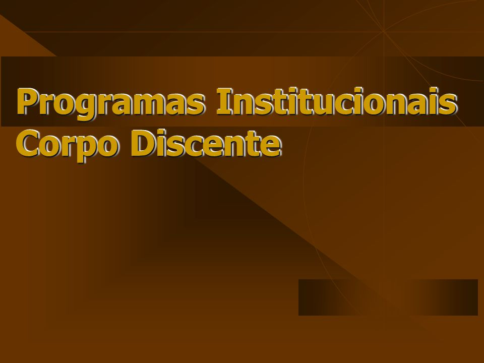 Programas Institucionais