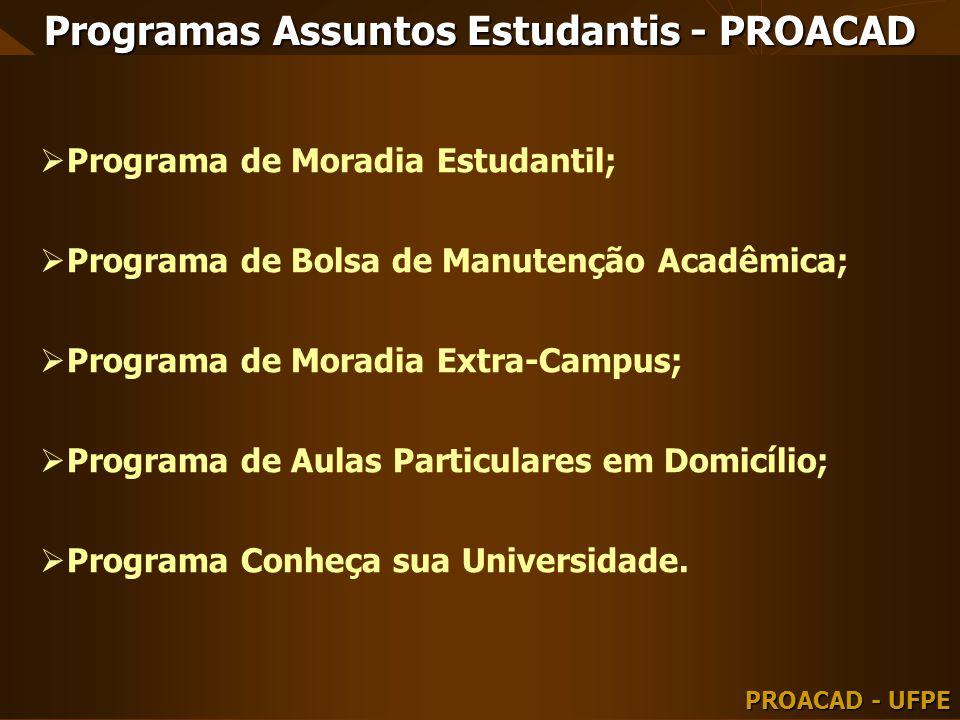 Programas Assuntos Estudantis - PROACAD