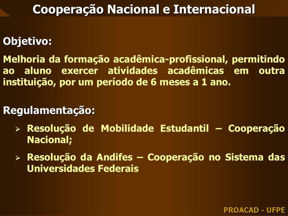 Cooperação Nacional e Internacional