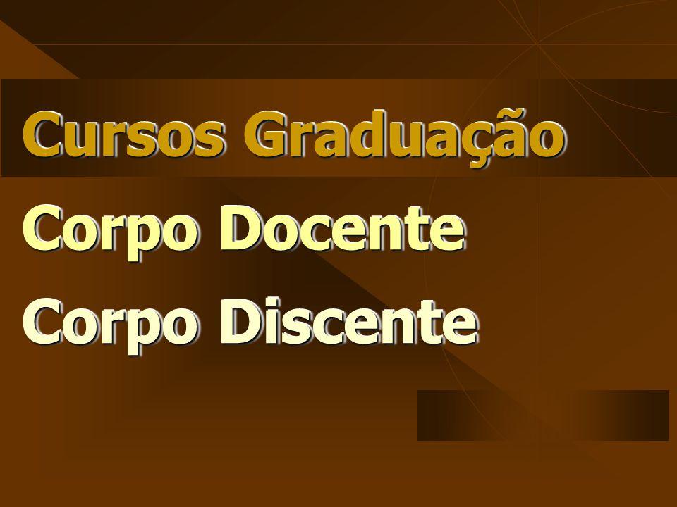 Cursos Graduação Corpo Docente Corpo Discente