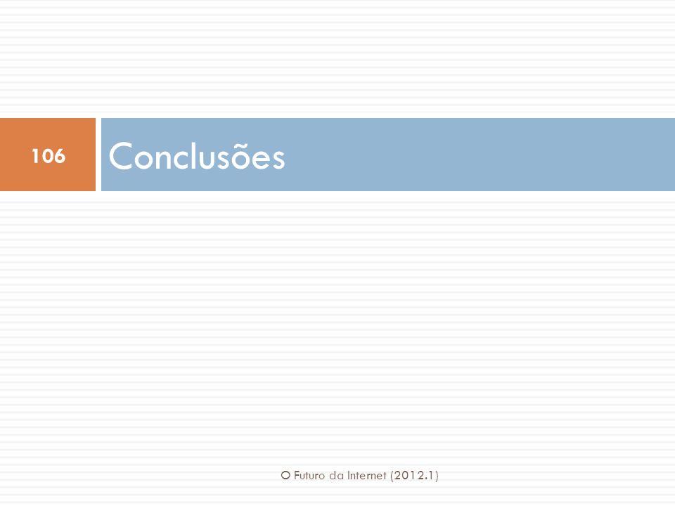 Conclusões O Futuro da Internet (2012.1)