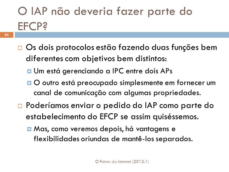 O IAP não deveria fazer parte do EFCP