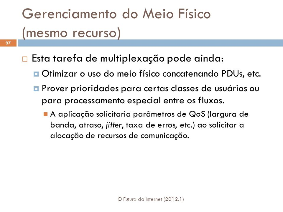 Gerenciamento do Meio Físico (mesmo recurso)