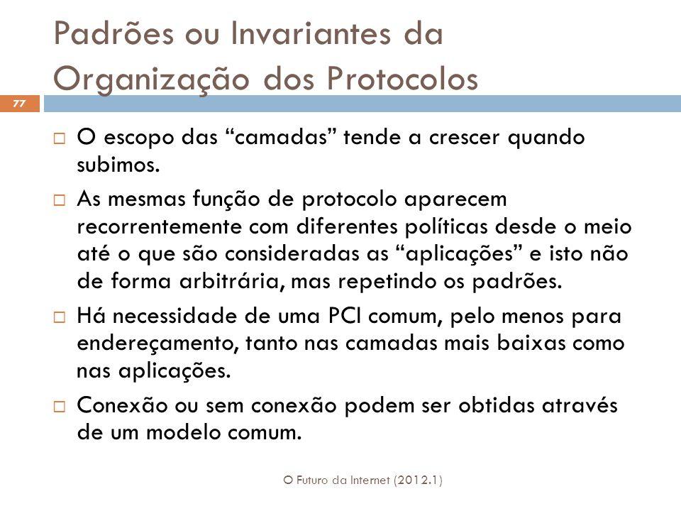 Padrões ou Invariantes da Organização dos Protocolos