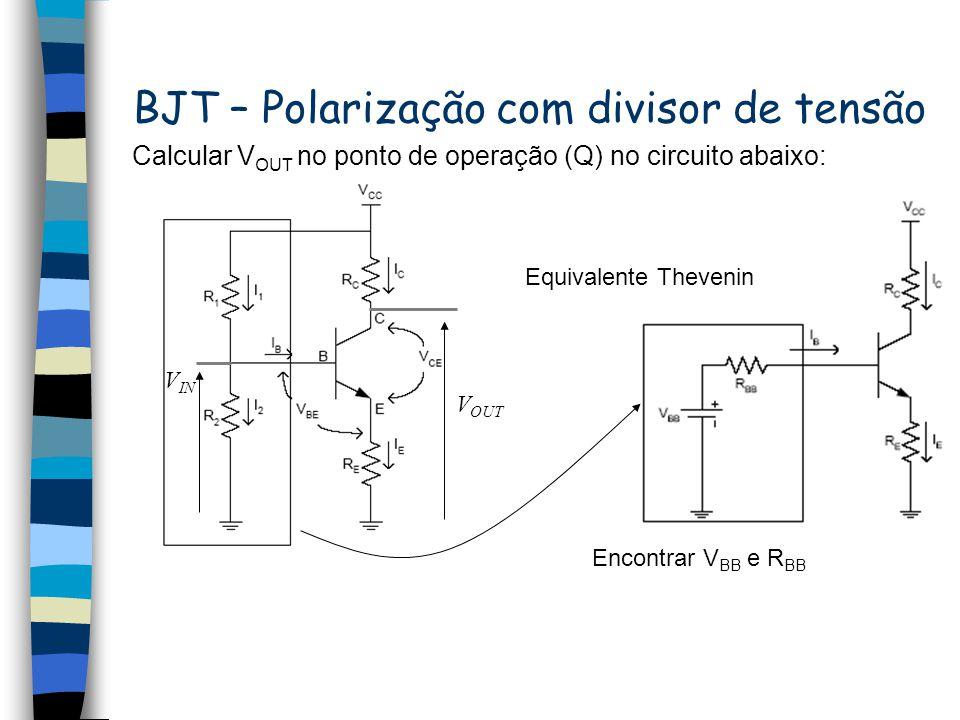 BJT – Polarização com divisor de tensão