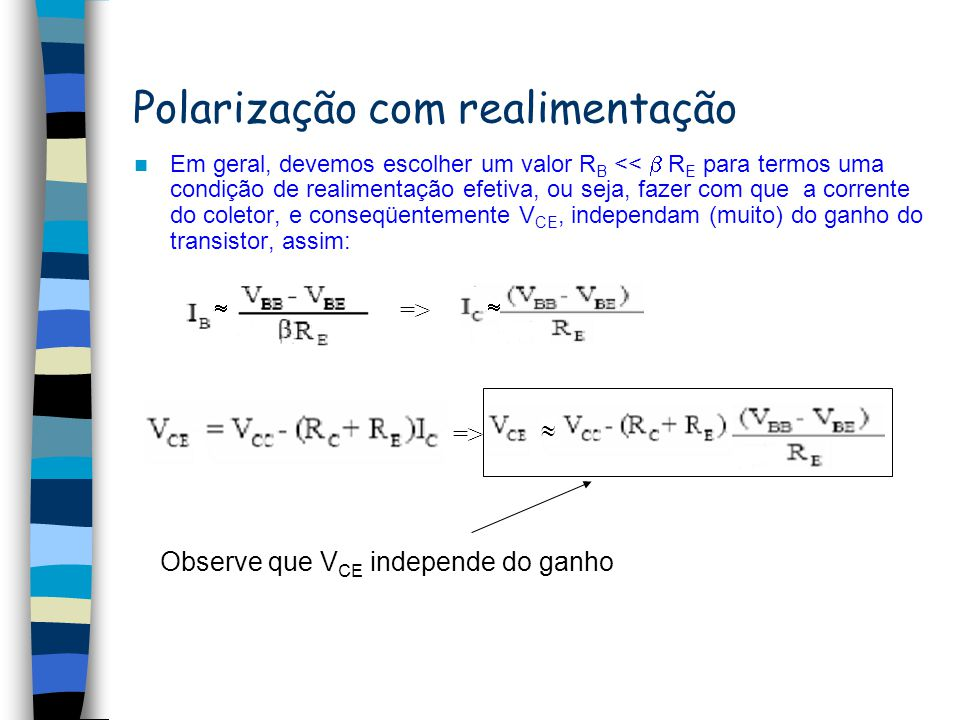 Polarização com realimentação