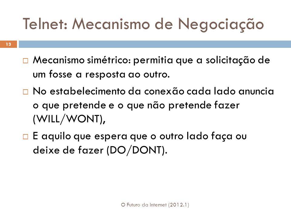 Telnet: Mecanismo de Negociação