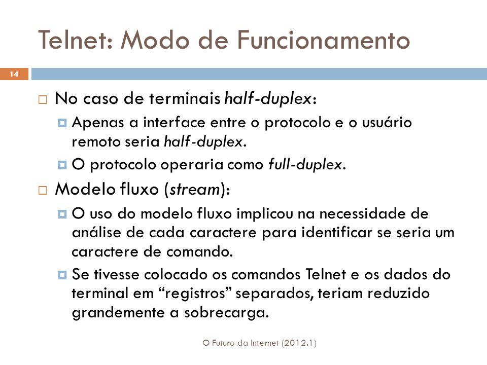 Telnet: Modo de Funcionamento