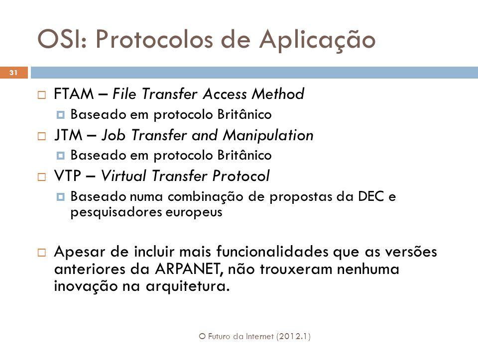 OSI: Protocolos de Aplicação