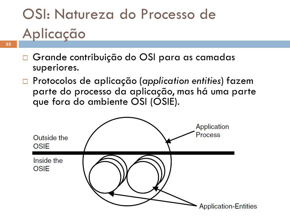OSI: Natureza do Processo de Aplicação