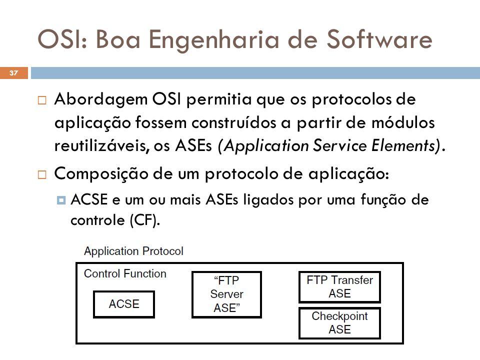 OSI: Boa Engenharia de Software