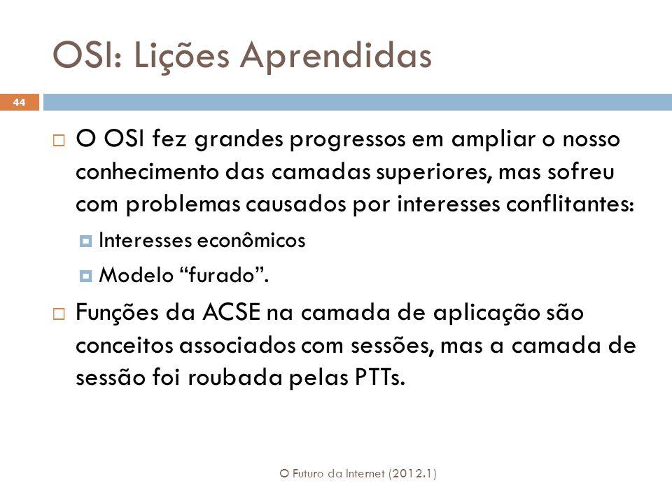 OSI: Lições Aprendidas