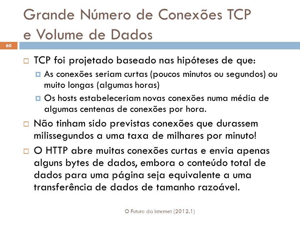 Grande Número de Conexões TCP e Volume de Dados