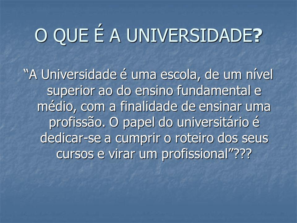 O QUE É A UNIVERSIDADE