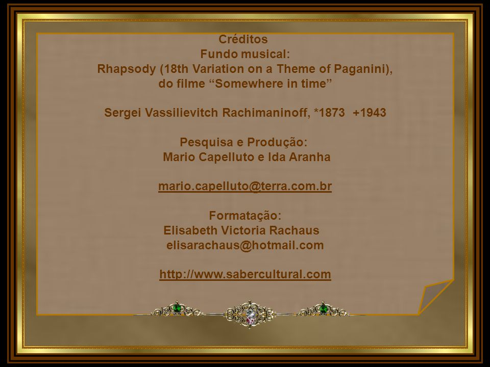 Rhapsody (18th Variation on a Theme of Paganini),