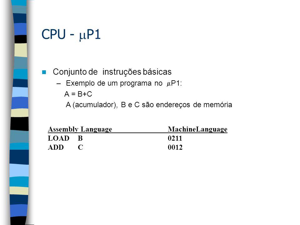CPU - P1 Conjunto de instruções básicas