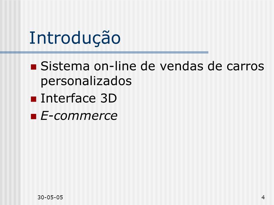Introdução Sistema on-line de vendas de carros personalizados