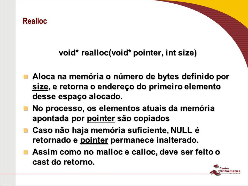 void* realloc(void* pointer, int size)
