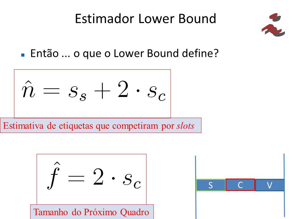 Estimador Lower Bound Então ... o que o Lower Bound define