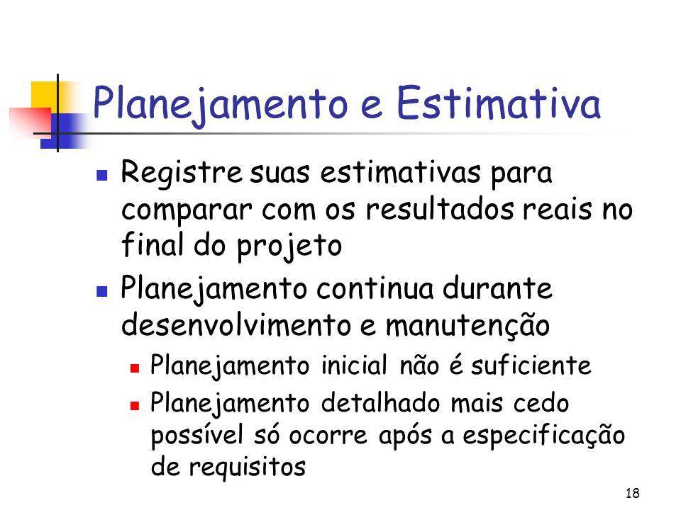 Planejamento e Estimativa