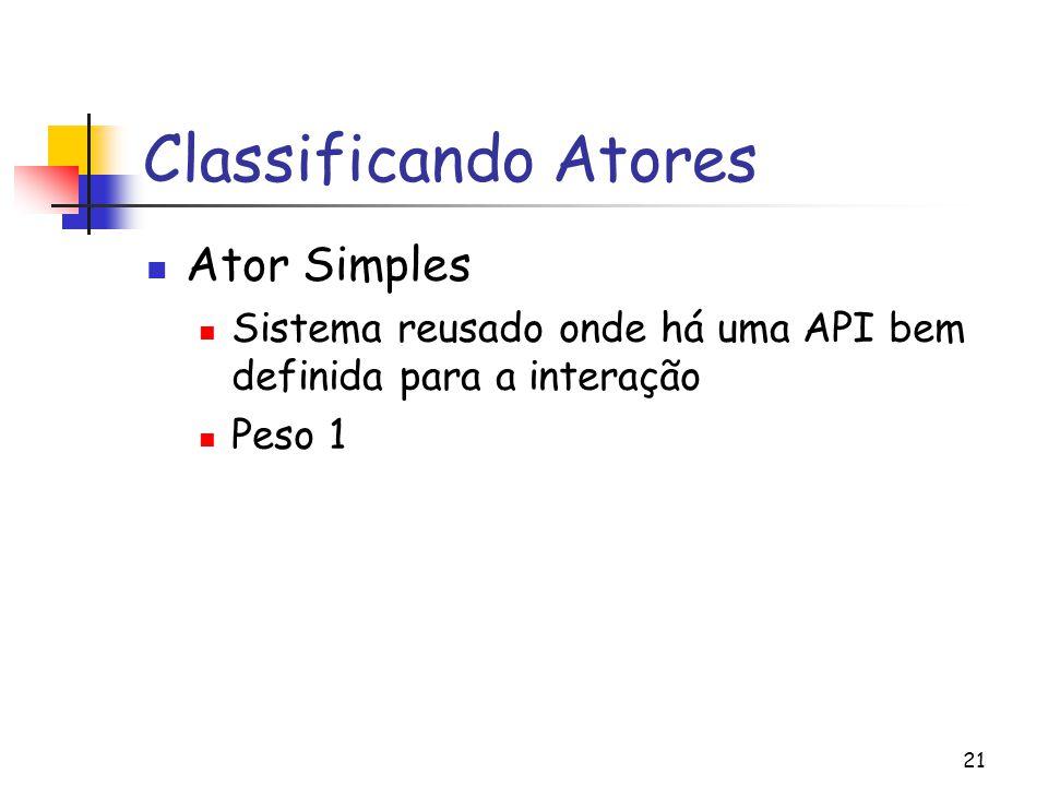 Classificando Atores Ator Simples