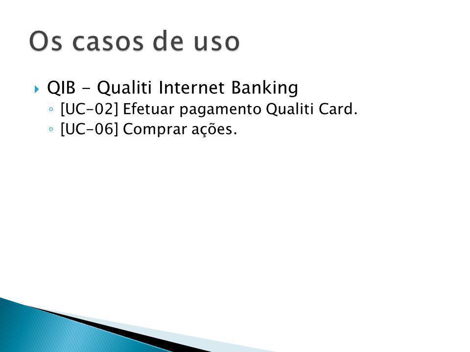 Os casos de uso QIB - Qualiti Internet Banking