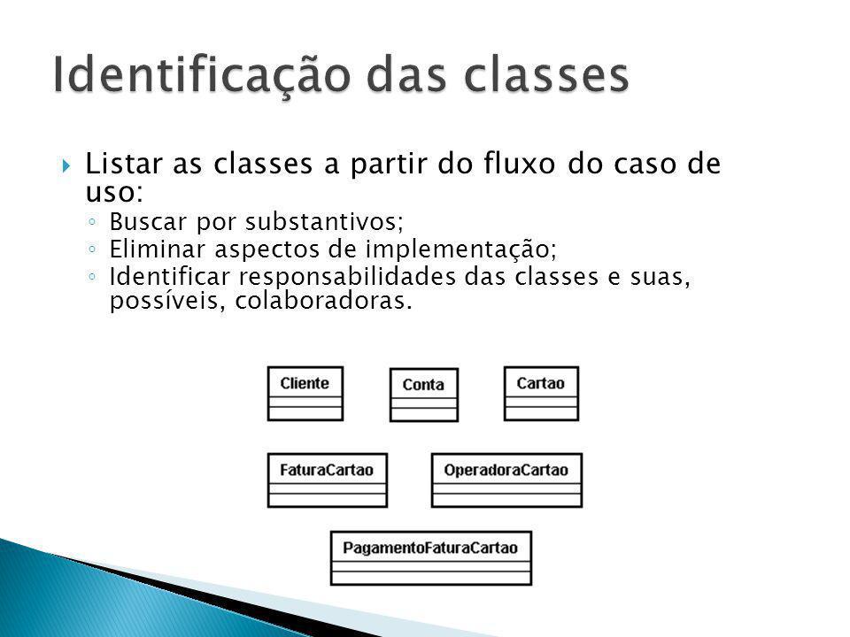 Identificação das classes